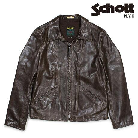 ショット Schott ジャケット トラッカージャケット レザージャケット メンズ TRUCKER JACKET ブラウン 553