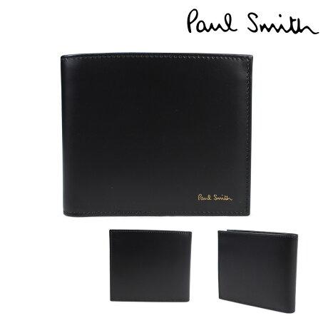 ポールスミス 財布 メンズ 二つ折り Paul Smith SMART WALLET レザー ブラック 4833 W761A 79