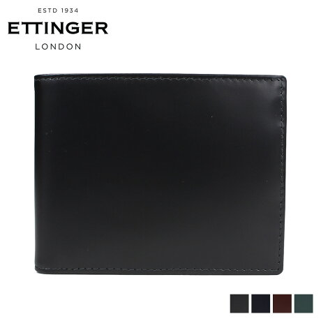エッティンガー ETTINGER 財布 二つ折り メンズ BRIDLE BILLFOLD WITH 3 C/C & PURSE ブラック ブラウン ネイビー グリーン 黒 BH141JR [3/12 再入荷]