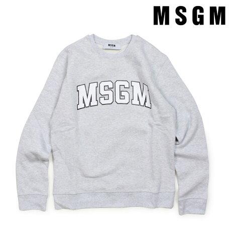 MSGM トレーナー スウェット レディース エムエスジーエム LONG SLEEVED SHIRTS グレー 2541MDM163 184769 [2/26 追加入荷]