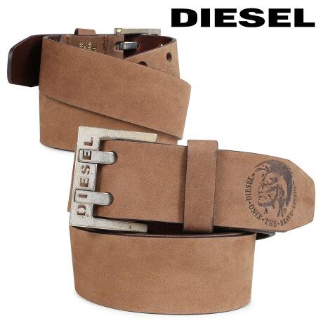 ディーゼル DIESEL ベルト レザーベルト メンズ バックル 本革 カジュアル BIT BELT ブラウン X03714 PR047