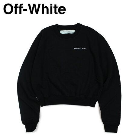 Off-white オフホワイト トレーナー レディース スウェット CREW SWEATSHIRT ブラック OWBA026 003035 [11/19 新入荷]