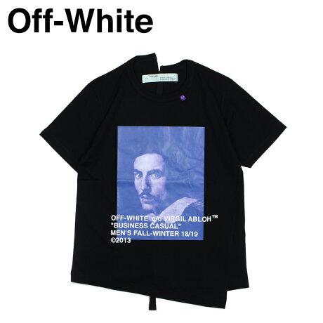 Off-white オフホワイト Tシャツ 半袖 メンズ BERNINI PRINT T-SHIRTS ブラック OMAA032 185011 [11/19 新入荷]