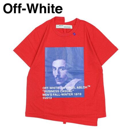 Off-white オフホワイト Tシャツ 半袖 メンズ BERNINI PRINT T-SHIRTS レッド OMAA032 185011 [11/19 新入荷]