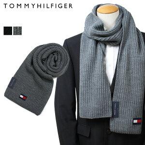 【最大2000円OFFクーポン】 トミーヒルフィガー TOMMY HILFIGER マフラー メンズ ブラック グレー H8C83203 TH-F18-5003