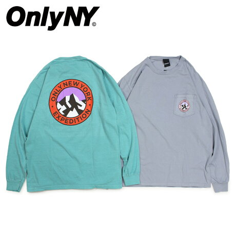 ONLY NY オンリーニューヨーク Tシャツ ロンT メンズ 長袖 コットン EXPEDITION L/S T-SHIRT グレー ブルー [1/7 新入荷]