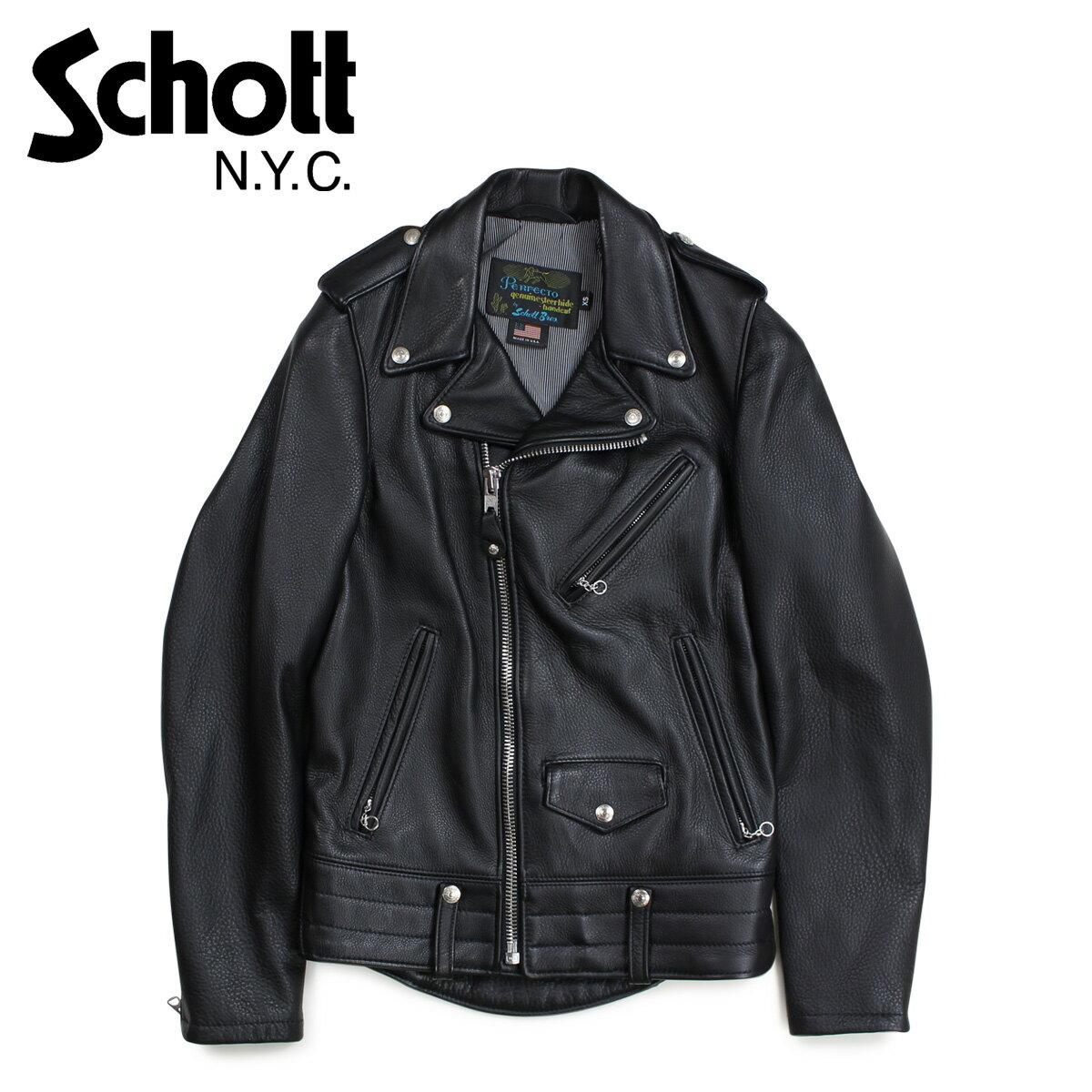 メンズファッション, コート・ジャケット 2000OFF Schott MEN NATURAL PEBBLE COWHIDE MOTORCYCLE LEATHER JACKET 525