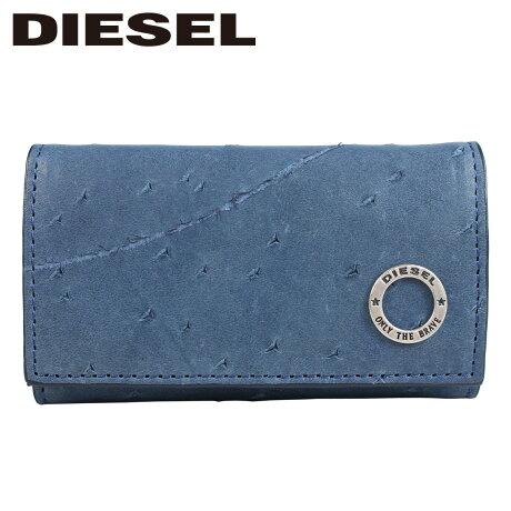 ディーゼル DIESEL キーケース メンズ 本革 6連 KURACAO 24 ZIP ブルー X05825 PR080