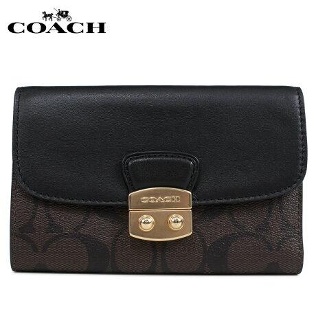 コーチ COACH 財布 三つ折り レディース シグネチャー レザー ブラウン F34780 [3/6 新入荷]