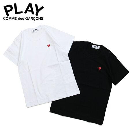 コムデギャルソン PLAY COMME des GARCONS Tシャツ レディース 半袖 LITTLE RED HEART T-SHIRT ブラック ホワイト 黒 白 AZ-T199 [3/29 新入荷]