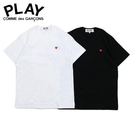 コムデギャルソン PLAY COMME des GARCONS Tシャツ メンズ 半袖 LITTLE RED HEART T-SHIRT ブラック ホワイト 黒 白 AZ-T200 [3/29 新入荷]