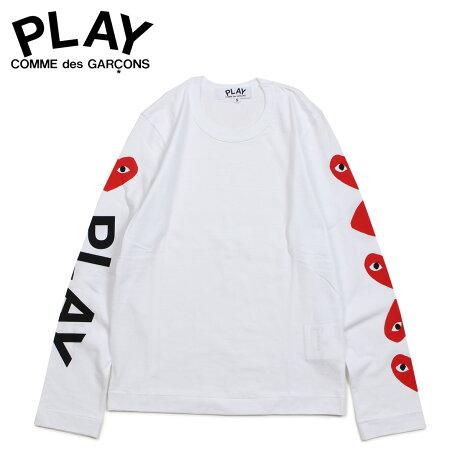 コムデギャルソン PLAY COMME des GARCONS Tシャツ レディース 長袖 ロンT RED HEART LONG SLEEVE ホワイト 白 AZ-T261 [3/29 新入荷]