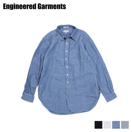 エンジニアドガーメンツ ENGINEERED GARMENTS シャツ 長袖 オックスフォードシャツ メンズ 19 CENTURY BUTTON DOWN SHIRT ブラック ホワイト ブルー 黒 白 19SA001 [3/28 新入荷]