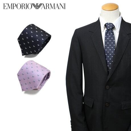 エンポリオ アルマーニ EMPORIO ARMANI ネクタイ メンズ イタリア製 シルク ビジネス 結婚式 ネイビー ピンク [3/25 新入荷]