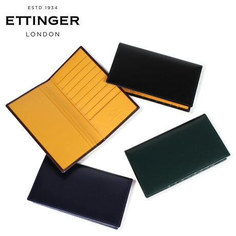 エッティンガー ETTINGER 財布 長財布 メンズ レザー COAT WALLET WITH CARD CASE ブラック ネイビー ブラウン グリーン 黒 BH806 [3/18 新入荷]