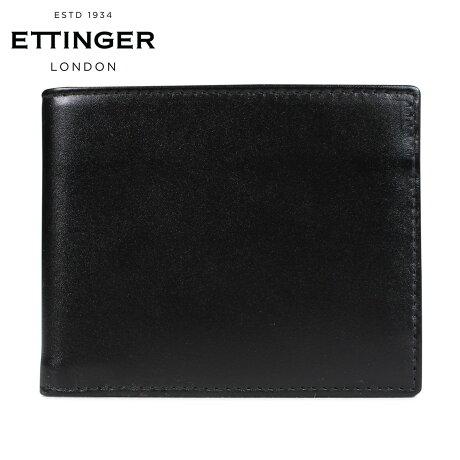 エッティンガー ETTINGER 財布 二つ折り メンズ レザー BILLFOLD WALLET WITH CARD CASE ブラック 黒 ST030CJR [3/18 新入荷]
