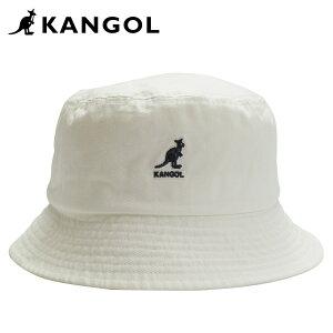 【最大2000円OFFクーポン】 カンゴール KANGOL ハット キャップ 帽子 バケットハット メンズ レディース WASHED BUCKET ホワイト 白 100169221