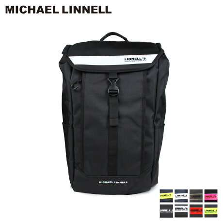 マイケルリンネル MICHAEL LINNELL リュック バッグ 28L メンズ レディース バックパック BOX BACKPACK ブラック ネイビー 黒 ML-025