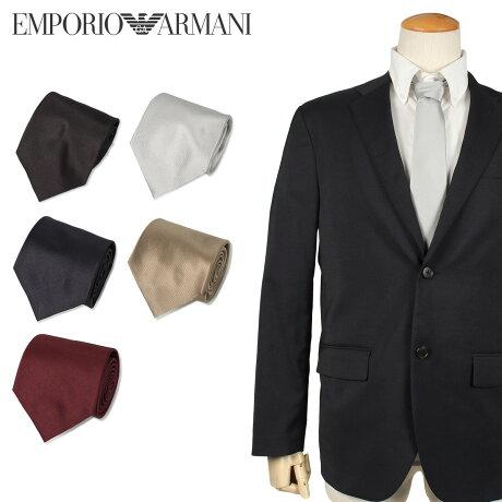 エンポリオ アルマーニ EMPORIO ARMANI ネクタイ メンズ イタリア製 シルク ビジネス 結婚式 ブラック ダーク ネイビー ワイン レッド ゴールド シルバー 黒 [10/10 新入荷]