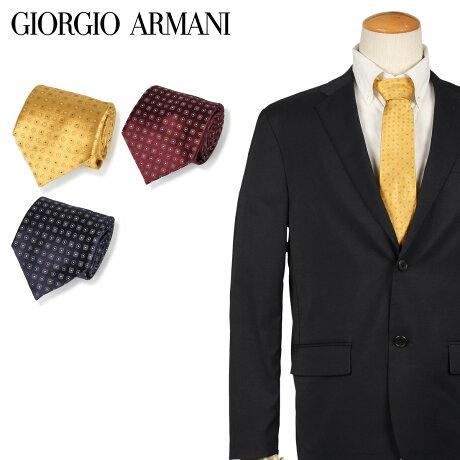 ジョルジオ アルマーニ GIORGIO ARMANI ネクタイ メンズ イタリア製 シルク ビジネス 結婚式 ブラック ワインレッド イエロー 黒 [10/11 新入荷]