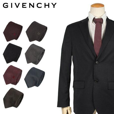 ジバンシー GIVENCHY ネクタイ メンズ イタリア製 シルク ビジネス 結婚式 ブラック グレー ネイビー レッド バーガンディー 黒 [10/11 新入荷]