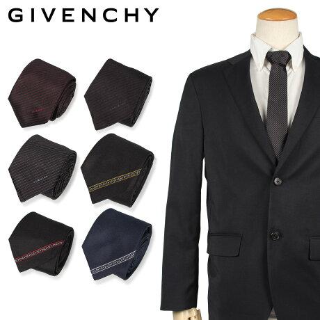 ジバンシー GIVENCHY ネクタイ メンズ イタリア製 シルク ビジネス 結婚式 ブラック ネイビー 黒 [10/11 新入荷]