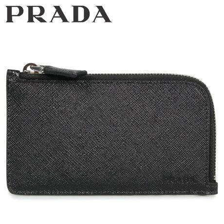 プラダ PRADA 財布 カードケース 小銭入れ メンズ サフィアーノ L字ファスナー CARD HOLDER ブラック 黒 2MC021053 [10/8 新入荷]
