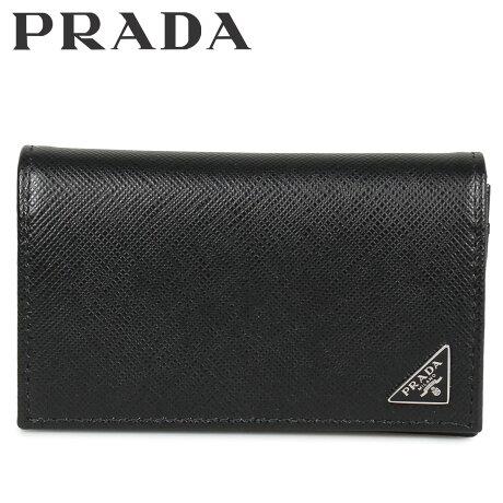 プラダ PRADA 名刺入れ カードケース カードホルダー メンズ サフィアーノ BUSINESS CARD HOLDER VOFTM ブラック 黒 2MC122QHH [10/8 新入荷]