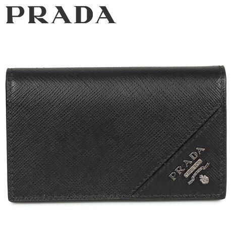 プラダ PRADA 名刺入れ カードケース カードホルダー メンズ サフィアーノ BUSINESS CARD HOLDER VOFTM ブラック 黒 2MC122QME [10/8 新入荷]