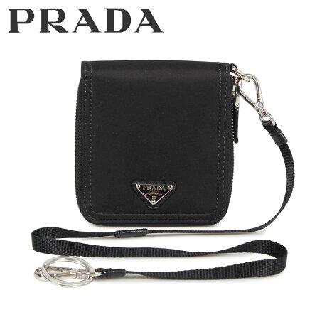 プラダ PRADA 財布 二つ折り メンズ レディース ラウンドファスナー ZIP AROUND MINI CON TRACOLLA ブラック 黒 2ML2212A1E [10/9 新入荷]