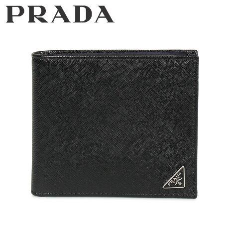 プラダ PRADA 財布 二つ折り メンズ サフィアーノ BIFOLD COIN POCKET ブラック 黒 2MO738QHH [10/8 新入荷]