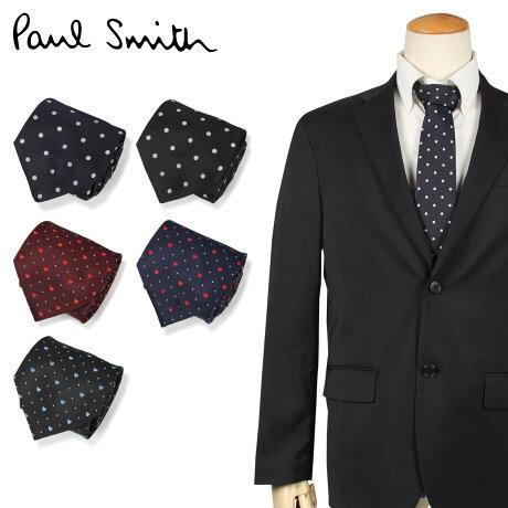 ポールスミス Paul Smith ネクタイ メンズ イタリア製 シルク ビジネス 結婚式 ブラック ネイビー ワイン レッド 黒 [10/10 新入荷]