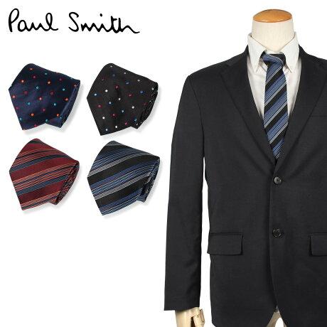 ポールスミス Paul Smith ネクタイ メンズ イタリア製 シルク ビジネス 結婚式 ブラック ネイビー ブラウン 黒 [10/10 新入荷]