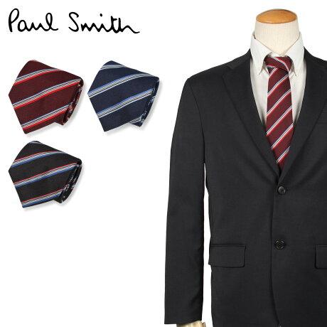 ポールスミス Paul Smith ネクタイ メンズ イタリア製 シルク ビジネス 結婚式 ブラック ネイビー 黒 [10/10 新入荷]