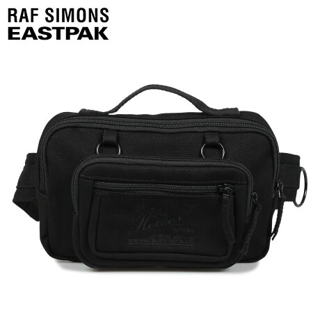 ラフ シモンズ RAF SIMONS イーストパック EASTPAK バッグ ウエストバッグ ボディバッグ ループ メンズ レディース 3L WAISTBAG LOOP コラボ ブラック 黒 EK94E [10/7 新入荷]