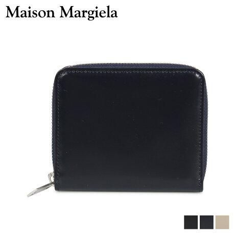 メゾンマルジェラ MAISON MARGIELA 財布 ミニ財布 メンズ レディース ラウンドファスナー MINI WALLET レザー ブラック ダーク ネイビー ベージュ 黒 S55UI0197 P2714 [10/8 新入荷]