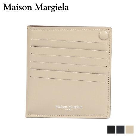 メゾンマルジェラ MAISON MARGIELA カードケース 名刺入れ 定期入れ メンズ レディース CARD CASE レザー ブラック ダーク ネイビー ベージュ 黒 S55UI0201 P2714 [10/9 新入荷]