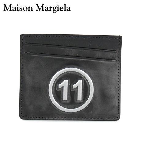 メゾンマルジェラ MAISON MARGIELA カードケース 名刺入れ 定期入れ メンズ レディース CARD CASE レザー ブラック 黒 S35UI0432 P0047 [10/8 新入荷]