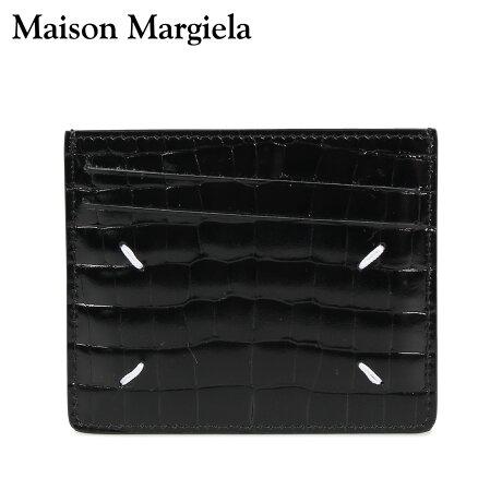 メゾンマルジェラ MAISON MARGIELA カードケース 名刺入れ 定期入れ メンズ レディース CARD CASE レザー ブラック 黒 S35UI0432 P0195 [10/8 新入荷]