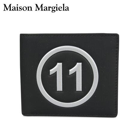 メゾンマルジェラ MAISON MARGIELA 財布 ミニ財布 二つ折り メンズ レディース MINI WALLET レザー ブラック 黒 S35UI0435 P0047 [10/8 新入荷]