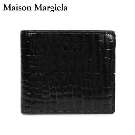 メゾンマルジェラ MAISON MARGIELA 財布 ミニ財布 二つ折り メンズ レディース MINI WALLET レザー ブラック 黒 S35UI0435 P0195 [10/8 新入荷]