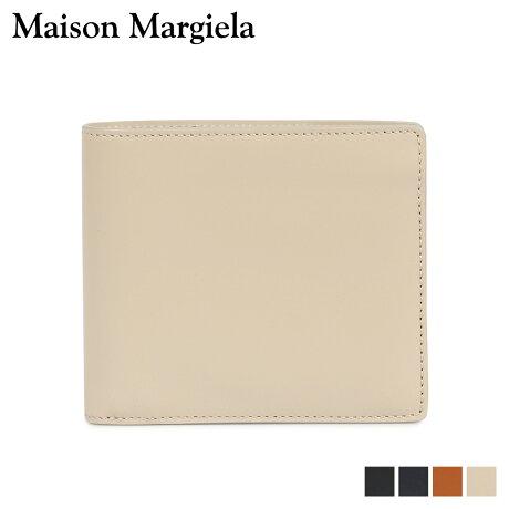 メゾンマルジェラ MAISON MARGIELA 財布 二つ折り メンズ レディース BI-FOLD WALLET レザー ブラック ダーク ネイビー ベージュ ブラウン 黒 S35UI0435 P2714 [10/9 新入荷]