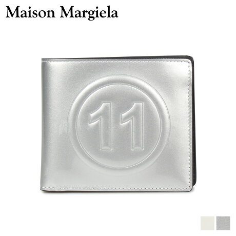 メゾンマルジェラ MAISON MARGIELA 財布 二つ折り メンズ レディース BI-FOLD WALLET レザー ホワイト シルバー 白 S35UI0435 PR213 [10/9 新入荷]