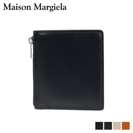メゾンマルジェラ MAISON MARGIELA 財布 ミニ財布 二つ折り メンズ レディース MINI WALLET レザー ブラック ダーク ネイビー ベージュ ブラウン 黒 S35UI0448 P2714 [10/8 新入荷]