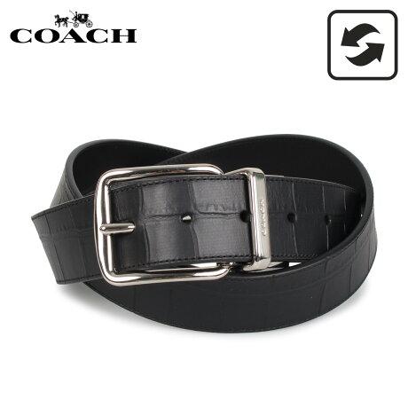 コーチ COACH ベルト レザーベルト リバーシブル メンズ ブラック 黒 F73136 [予約 1月下旬 再入荷予定]