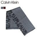 カルバンクライン Calvin Klein マフラー スカーフ メンズ MUFFLER グレー レッド 1CK3837
