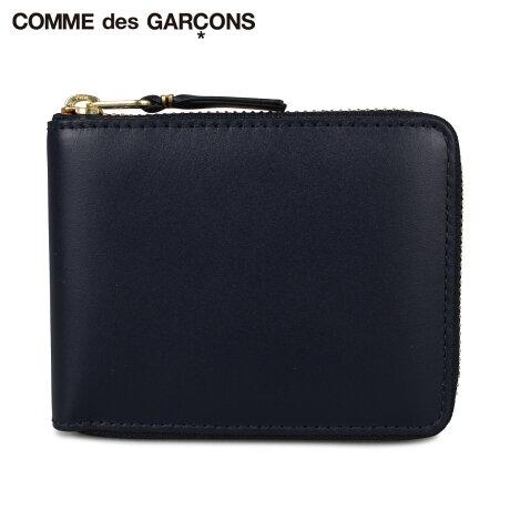 コムデギャルソン COMME des GARCONS 財布 二つ折り メンズ レディース ラウンドファスナー CLASSIC ネイビー SA7100 [予約 1月下旬 新入荷予定]