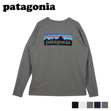 パタゴニア patagonia Tシャツ 長袖 ロンT カットソー レスポンシビリティー メンズ P-6 LOGO RESPONSIBILI TEE ブラック ホワイト グレー 黒 白 38518