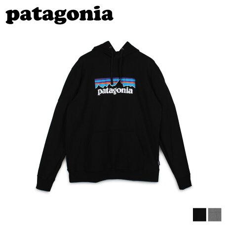 パタゴニア patagonia パーカー スウェット プルオーバー アップライザル フーディ メンズ P-6 LOGO UPRISAL HOODY ブラック グレー 黒 39539