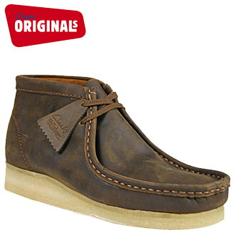 Clarks originals Clarks ORIGINALS boots Wallaby 35425 men's WALLABE BOOT leather crepe sole